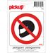 Pictogramme adhésif interdiction de porter un casque
