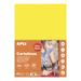 Feuilles cartonnées jaune fluo