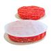Papier paraffine ovale pour steacks hâchés