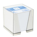 Bloc cube papier + boîter plexi
