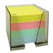 Bloc cube papier 4 couleurs + boîtier plexi
