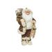 Père Noël avec sac à dos et luge à la main