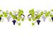 Vitrophanie électrostatique Vigne et Raisin