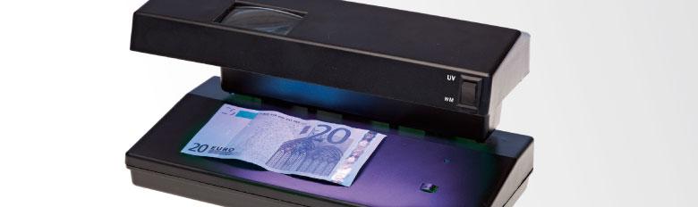 Détecteurs de faux billets - Compteurs pièces et billets
