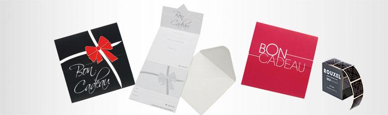 Étiquettes et chèques cadeaux