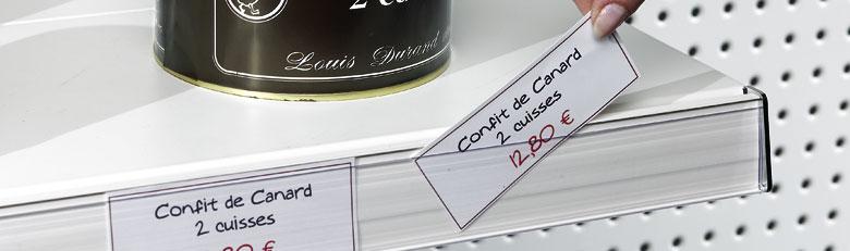 Étiquettes pour porte-étiquettes