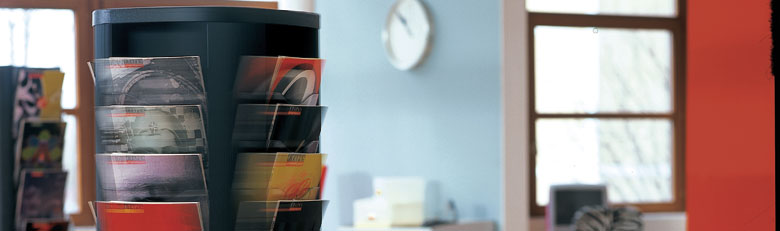 porte brochures sur pied affichage magasin signal tique rouxel. Black Bedroom Furniture Sets. Home Design Ideas