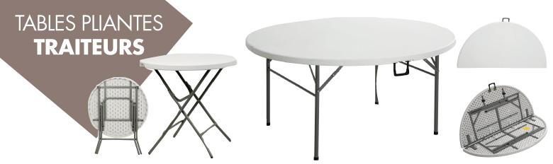 Tables pliantes traiteurs