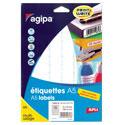Étiquettes adhésives APLI blanches amovibles/planche A5