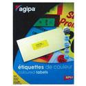 Étiquettes adhésives APLI couleurs permanentes/planche A4