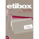 Étiquettes adhésives ETIBOX blanches permanentes/planche A4