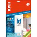 Étiquettes adhésives plastifiées blanches/planches A4