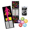 Kit affiches + étiquettes Noir et Multicolore