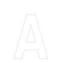 Lettres et chiffres adhésifs blancs H 150 mm