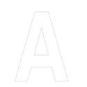 Lettres et chiffres adhésifs blancs H 200 mm