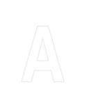 Lettres et chiffres adhésifs blancs H 90 mm