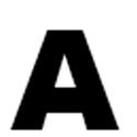 Lettres et chiffres adhésifs noirs H 200 mm
