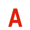 Lettres et chiffres adhésifs rouges H 150 mm