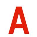 Lettres et chiffres adhésifs rouges H 200 mm