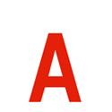 Lettres et chiffres adhésifs rouges H 90 mm