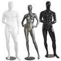 Mannequins abstraits laqués fibre de verre