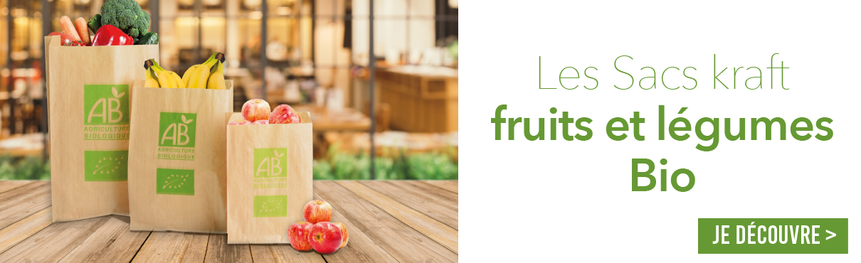 Sac kraft fruits et légumes 2019