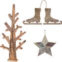 Décors de Noël Naturels et bois