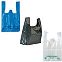Sacs plastique unis, poignées bretelles